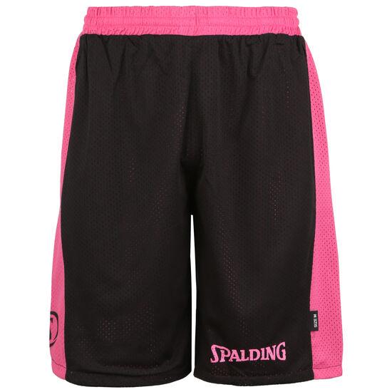 Essential Reversible Basketballshort Herren, schwarz / pink, zoom bei OUTFITTER Online