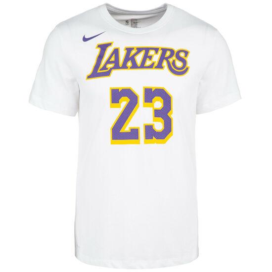 LeBron James LA Lakers T-Shirt Herren, weiß / lila, zoom bei OUTFITTER Online