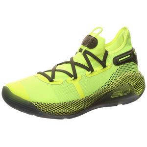 Curry 6 Hi Vis Yellow Basketballschuh Herren, neongelb / schwarz, zoom bei OUTFITTER Online