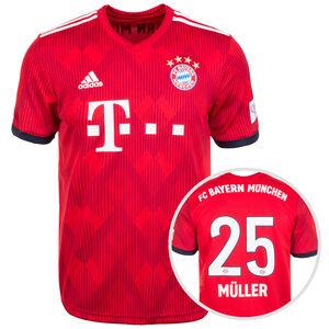 FC Bayern München Trikot Home Müller 2018/2019 Herren, Rot, zoom bei OUTFITTER Online