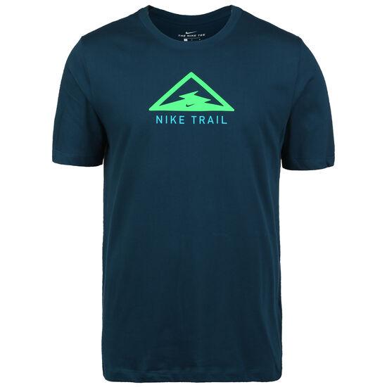 Dry Trail Laufshirt Herren, dunkelblau / grün, zoom bei OUTFITTER Online