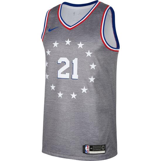 NBA Philadelphia 76ers #21 Embiid Basketballtrikot Herren, dunkelgrau, zoom bei OUTFITTER Online