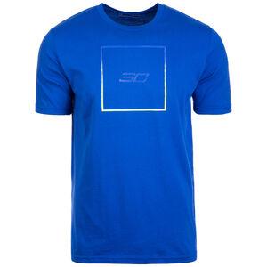 SC30 Box Logo T-Shirt Herren, blau / neongelb, zoom bei OUTFITTER Online