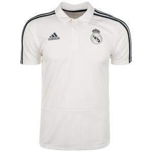 Real Madrid Poloshirt Herren, weiß / schwarz, zoom bei OUTFITTER Online