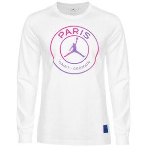 Paris St.-Germain Logo Longsleeve Herren, weiß / pink, zoom bei OUTFITTER Online