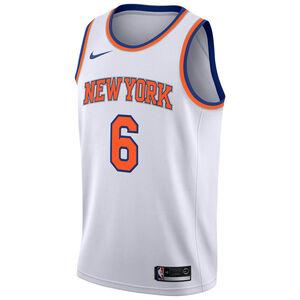 NBA New York Knicks #6 Porzingis Basketballtrikot Herren, weiß, zoom bei OUTFITTER Online