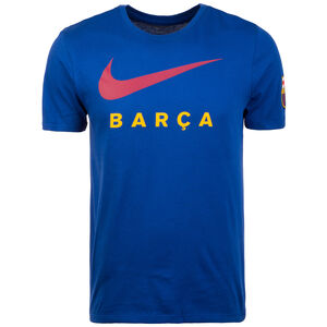 FC Barcelona Large Swoosh T-Shirt Herren, blau / rot, zoom bei OUTFITTER Online
