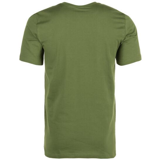 Essentials Linear Logo T-Shirt Herren, oliv / weiß, zoom bei OUTFITTER Online