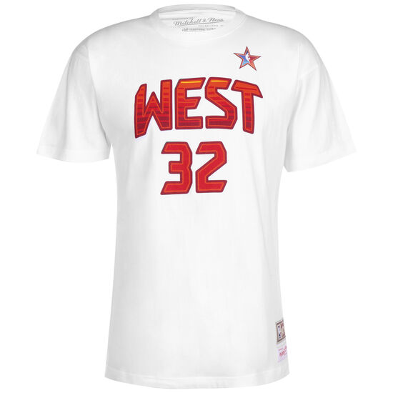 NBA All Star West 1991 #32 Shaquille O'Neal T-Shirt Herren, weiß / rot, zoom bei OUTFITTER Online