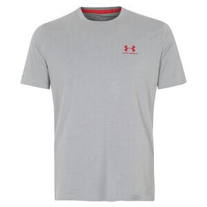 HeatGear CC Sportstyle Logo Trainingsshirt Herren, Grau, zoom bei OUTFITTER Online