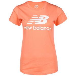Essentials Stacked Logo T-Shirt Damen, pink, zoom bei OUTFITTER Online