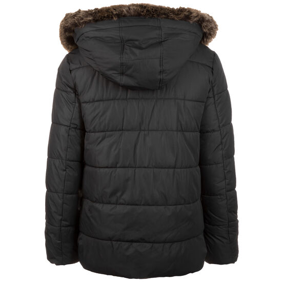 Faux Fur Hooded Winterjacke Herren, schwarz, zoom bei OUTFITTER Online
