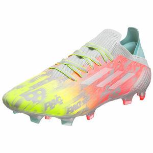 X Speedflow.1 FG Fußballschuh Herren, grau / gelb, zoom bei OUTFITTER Online