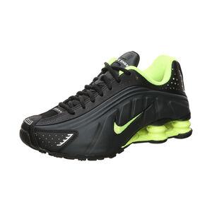 Shox R4 Sneaker Kinder, schwarz / neongelb, zoom bei OUTFITTER Online
