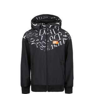 Just Do It Windrunner Kapuzenjacke Kinder, schwarz / weiß, zoom bei OUTFITTER Online