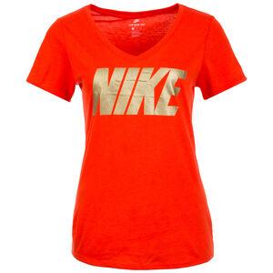 Metallic Block T-Shirt Damen, rot / gold, zoom bei OUTFITTER Online