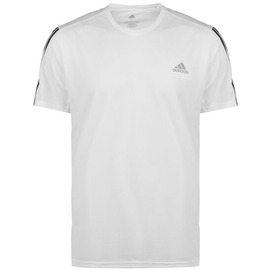 Run It 3 Stripes Laufshirt Damen, weiß / schwarz, zoom bei OUTFITTER Online