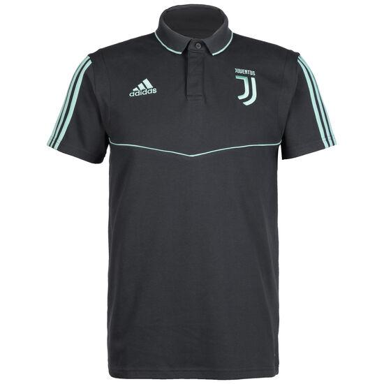 Juventus Turin Poloshirt Herren, dunkelgrau / mint, zoom bei OUTFITTER Online