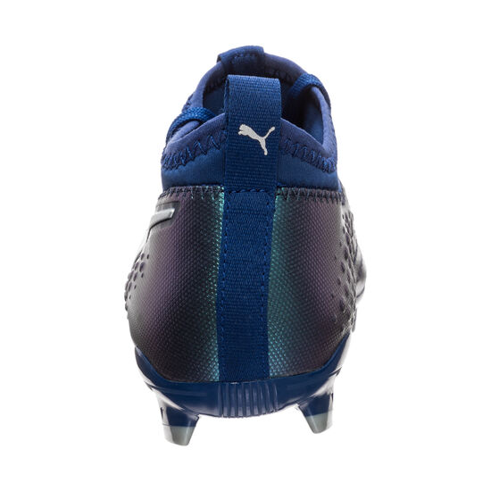 ONE 3 Leather FG Fußballschuh Kinder, blau / silber, zoom bei OUTFITTER Online