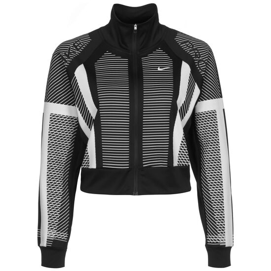 Clean Engineered Knit Trainingsjacke Damen, schwarz / weiß, zoom bei OUTFITTER Online