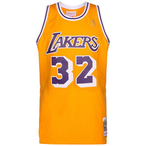 NBA LA Lakers Swingman 2.0 Magic Johnson Basketballtrikot Herren, gelb / lila, zoom bei OUTFITTER Online