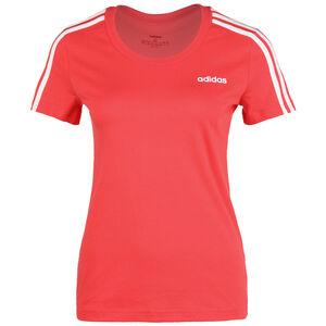 Essentials 3-Streifen Slim T-Shirt Damen, korall / weiß, zoom bei OUTFITTER Online
