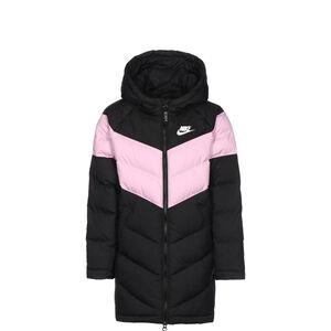 Synthetic Fill Long Winterjacke Kinder, schwarz / rosa, zoom bei OUTFITTER Online