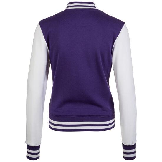 2-tone College Jacke Damen, lila / weiß, zoom bei OUTFITTER Online
