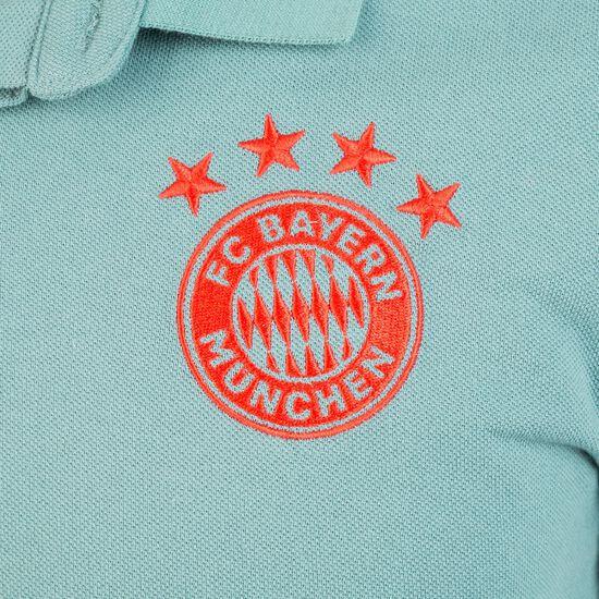 FC Bayern München Cotton Poloshirt, grün / rot, zoom bei OUTFITTER Online