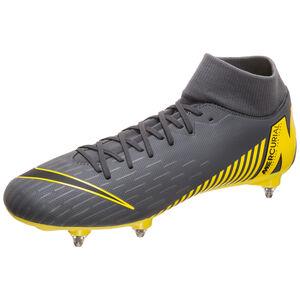 Mercurial Superfly VI Academy SG-Pro Fußballschuh Herren, dunkelgrau / gelb, zoom bei OUTFITTER Online