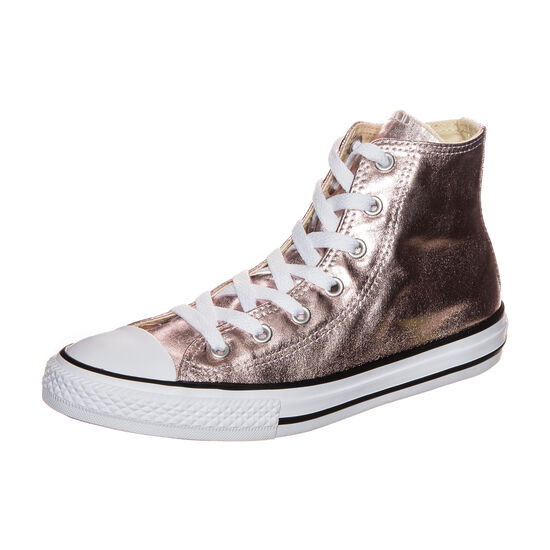 Chuck Taylor All Star Metallic High Sneaker Kinder, Gold, zoom bei OUTFITTER Online
