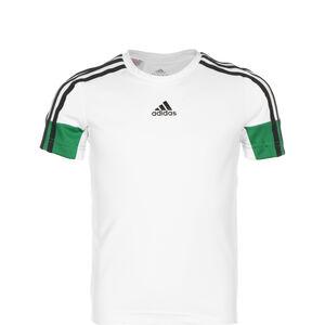 B.A.R. 3-Streifen Trainingsshirt Kinder, weiß / grün, zoom bei OUTFITTER Online