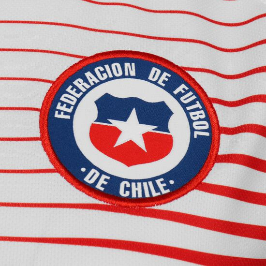 Chile Trikot Away Stadium WM 2019 Damen, weiß / rot, zoom bei OUTFITTER Online