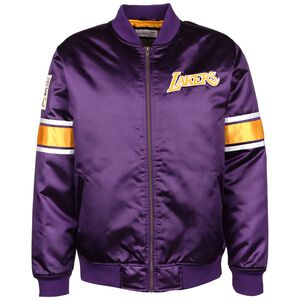 NBA Los Angeles Lakers Heavyweight Satin Jacke Herren, lila / gelb, zoom bei OUTFITTER Online