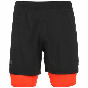 Iso-Chill Run 2-in-1 Laufshorts Herren, schwarz / orange, zoom bei OUTFITTER Online
