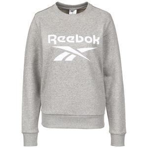 Identity Logo Fleece Sweatshirt Damen, grau / weiß, zoom bei OUTFITTER Online
