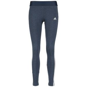 Essentials 3-Stripes Trainingstight Damen, blau / weiß, zoom bei OUTFITTER Online