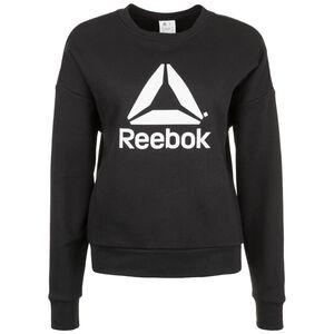 Workout Ready Big Logo Cover-Up Sweatshirt Damen, schwarz / weiß, zoom bei OUTFITTER Online