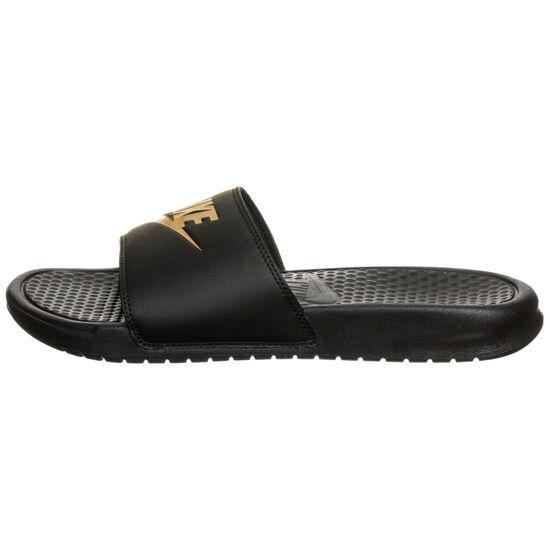 Benassi Just Do It Badesandale Herren, schwarz / gold, zoom bei OUTFITTER Online