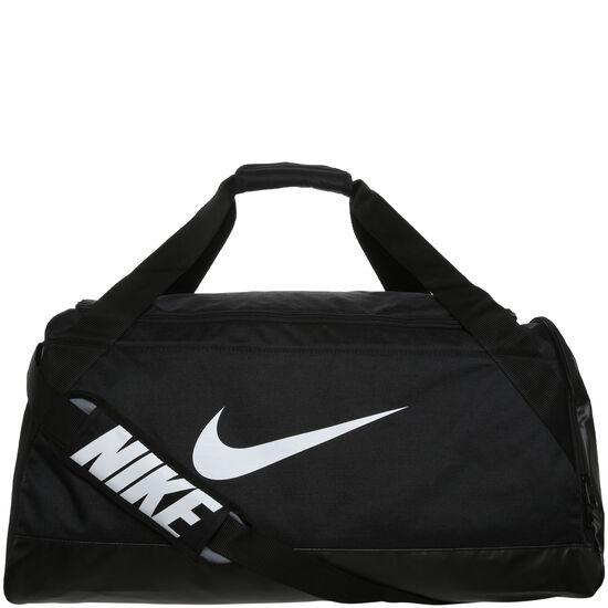 Brasilia Duffel Sporttasche Medium, schwarz / weiß, zoom bei OUTFITTER Online