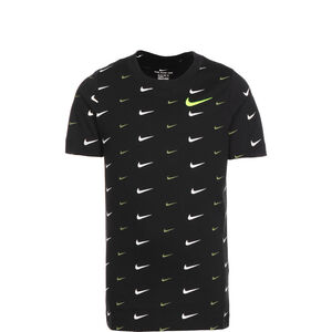 Swoosh All Over Print T-Shirt Kinder, schwarz / weiß, zoom bei OUTFITTER Online
