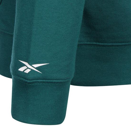 Training Essentials Linear Logo Kapuzenpullover Herren, grün / schwarz, zoom bei OUTFITTER Online