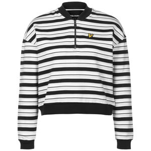 Stripe Bomber Sweatshirt Damen, schwarz / weiß, zoom bei OUTFITTER Online