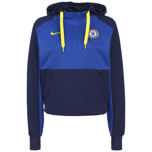 FC Chelsea Travel Fleece Midlayer Kapuzenpullover Damen, dunkelblau / blau, zoom bei OUTFITTER Online