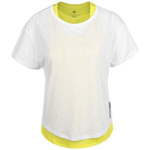 Adapt to Chaos Laufshirt Damen, weiß / neongelb, zoom bei OUTFITTER Online