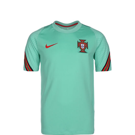 Portugal Breathe Strike Trainingsshirt EM 2021 Kinder, mint / rot, zoom bei OUTFITTER Online