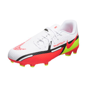Phantom GT2 Academy MG Fußballschuh Kinder, weiß / rot, zoom bei OUTFITTER Online