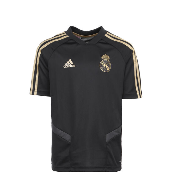 Real Madrid Trainingsshirt Kinder, schwarz / gold, zoom bei OUTFITTER Online