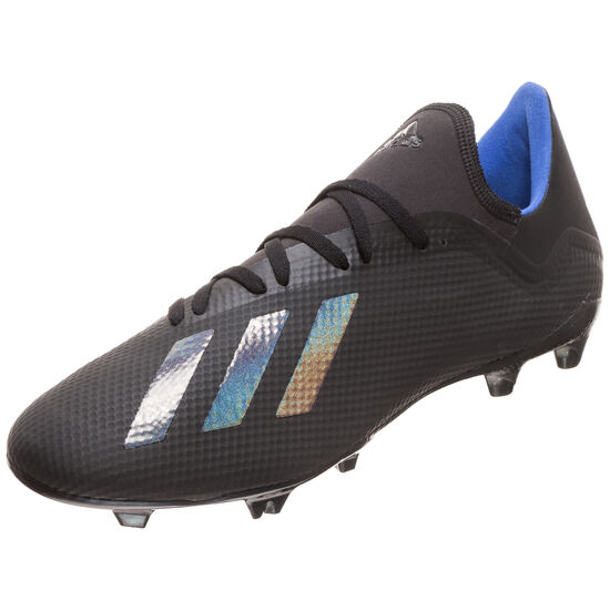 X 18.3 FG Fußballschuh Herren, schwarz / blau, zoom bei OUTFITTER Online