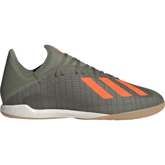 X 19.3 Indoor Fußballschuh Herren, oliv / orange, zoom bei OUTFITTER Online